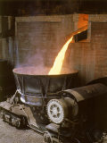Pooring Liquid Iron at Birmingham Steel Premium Photographic Print by Dmitri Kessel