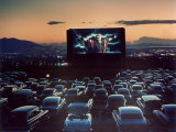 "Actor Charlton Heston as Moses in ""The Ten Commandments,"" Shown at Drive-in Theater Premium Photographic Print by J. R. Eyerman"