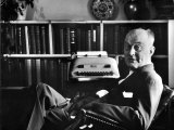 Theologian Reinhold Niebuhr in His Office Premium Photographic Print by Alfred Eisenstaedt