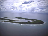 Aeriel View of Keeling Island, Part of Cocos Islands Premium Photographic Print by John Dominis