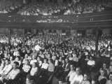 The Audience at the Grand Ole Opry Premium Photographic Print by Ed Clark