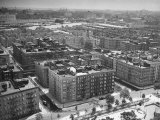 Low Aerial of Harlem Buildings Premium Photographic Print by Hansel Mieth