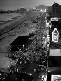 Aerial at Dusk of Beach, Boardwalk and Pier of Resort and Convention City Photographic Print by Alfred Eisenstaedt