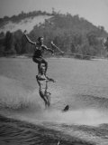 Couple Competing in the National Water Skiing Championship Tournament Premium Photographic Print