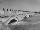 The Marco Polo Bridge, Showing 12th Century Lion-Headed Columns Premium Photographic Print by Dmitri Kessel