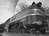 "British Train the ""Coronation Scot"" Traveling Between Baltimore, Maryland and Washington, D.C Photographic Print by Hansel Mieth"