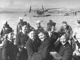 Nats in the Pacific: Group of Navy Nurses Arriving at Noumea Premium Photographic Print by Peter Stackpole