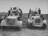 Men Overhauling Armoured Cars at Curragh Camp Premium Photographic Print