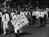 Units of the American Federation of Labor Marching in the Labor Day Parade Premium Photographic Print