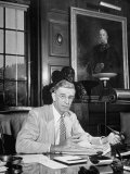 Portrait of Dr. Vannevar Bush of Carnegie Inst., Sitting in His Office Premium Photographic Print