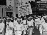 Bakers Union Marching Through the Labor Day Parade Premium Photographic Print
