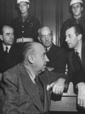 Constantin Neurath, Walter Funk, Albert Speer and Hans Fritsche During the Nuremberg Trials Premium Photographic Print by Ed Clark
