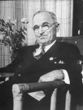 US Pres. Harry S. Truman at the Time of the United Nations Conference Premium Photographic Print