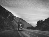 Trucking over Grapeline from L. A. and San Francisco Photographic Print by Peter Stackpole