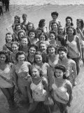 Contestants at the Atlantic City Beauty Contest Premium Photographic Print by Peter Stackpole