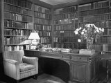 Henry James' Study with Books Lining the Walls Photographic Print