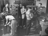 Students Working in Electrical Engineering Class Photographic Print by Peter Stackpole