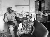 The Parents of Gangster Clyde Barrow, Sitting in their Home Premium Photographic Print by Carl Mydans