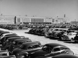 Full Parking Lot at the War Department Premium Photographic Print