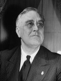 Portrait of President Franklin D. Roosevelt Premium Photographic Print