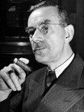 German-Born Us Writer Thomas Mann Fotodruck von Carl Mydans