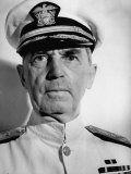Admiral William D. Leahy, Wearing White Summer Navy Uniform and Braided Cap Photographic Print by Myron Davis