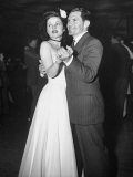Contestant Dancing with Her Supervisor at Sweetheart's Dance Premium Photographic Print by Peter Stackpole