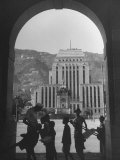 View Through Archway Toward Hong Kong-Shanghai Bank Premium Photographic Print