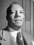 Portrait of Philip A. Randolph, the Head of Brotherhood of Sleeping Car Porters Premium Photographic Print