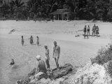 Guests on Treasure Island, Home of John T. Mccutcheon Premium Photographic Print
