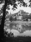 Exterior of Marburg Univ. on the Bank of Lahn River Photographic Print