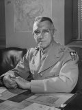 General Joseph W. Stilwell Posing for a Portrait Photographic Print by Myron Davis