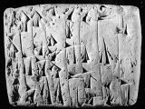 Ancient Promissory Note, Clay Tablet, in Cuneiform, from a Collection at Chase National Bank Premium Photographic Print