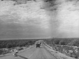 Henry A. Wallce's Caravan Entering Mexico During a Visit Premium Photographic Print by Carl Mydans