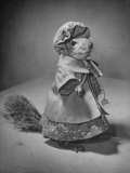 Squirrel Wearing a Baby Doll's Dress Premium Photographic Print by Nina Leen