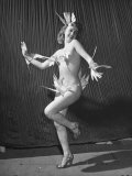 "Nude Burlesque Dancer from ""Folies Bergere"" Premium Photographic Print by Ralph Morse"