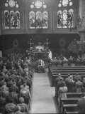Funeral Services in an Episcopal Church for General George S. Patton Jr Premium Photographic Print by Ed Clark