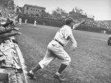 Chicago Cubs Manager Charlie Grimm Racing on to the Field Screaming Premium Photographic Print