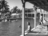 Pool at the British Colonial Hotel Premium Photographic Print