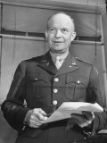 Close-Up of Gen. Dwight D. Eisenhower Premium Photographic Print by Myron Davis