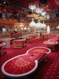 Interior of Trump Taj Mahal Casino Premium Photographic Print by Ted Thai