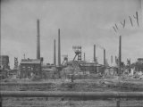 Distant View Showing the Coal Mining Plant Premium Photographic Print