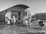 People Living in the Veteran's Housing Project Premium Photographic Print by Ed Clark