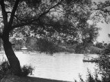 People Boat Riding in Prospect Park Premium Photographic Print by Ed Clark