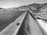 Top of Grand Coulee Dam Premium Photographic Print by Peter Stackpole