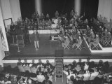Bandleader Glenn Miller and His Orchestra Giving a Performance Premium Photographic Print