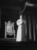 Pope Pius Xii Speaking at the Press Conference Premium Photographic Print