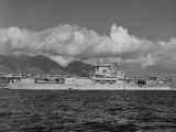 """US Navy Aircraft Carrier """"Enterprise"""" During Maneuvers in Hawaii Photographic Print by Carl Mydans"""