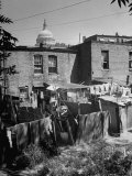 Capital Building Sitting Behind Slum Dwellings in the City Premium Photographic Print by Dmitri Kessel