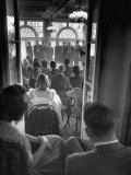 """Yale University's """"Whiffenpoofs"""" Party Premium Photographic Print by Peter Stackpole"""